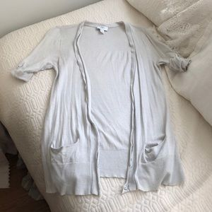 Ann Taylor Loft gray/blue long sweater